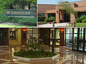 A composite image illustrating our Voorhees campus at Laurelwood Corporate Center.